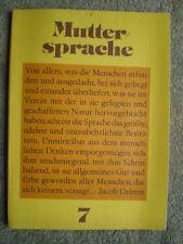 Muttersprache 7. Klasse - DDR Schulbuch POS Ausdruck Rechtschreibung