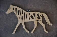 I Love Horses Pony Horse Wood Christmas Ornament Tack Room Decoration