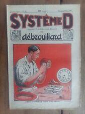 Magazine SYSTEME D  réparer le ressort d'une horloge, table valise etc.. 1925 *
