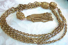 Emmons Goldplated Layered Chain Dangly Pendant Necklace Estate Jewelry SoPretty