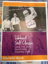 2013 Vince Lombardi Golf Classic Program Signed Autographed by Five celebrities