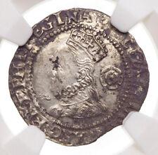 ENGLAND. Elizabeth I. 1558-1603. Silver Threepence, 1572, S-2566, NGC XF Details