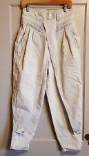 RARE Vtg JORDACHE Light Wash Skinny High Rise Sz 13/14 Jeans Overflap BALLOON