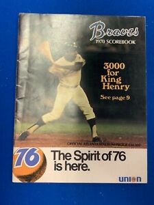 1970 Atlanta Braves Scorebook Henry Aaron