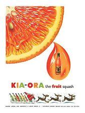 Kia Ora Klassisch Retro Werbung Plakat A1 A2 A3 A4 Größen