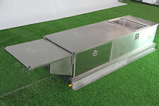 STAINLESS STEEL Caravan SLIDE OUT KITCHEN 2 DRAWERS SINK BENCH