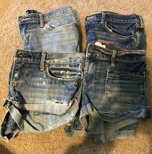Abercrombie Kids Girls Distressed Jean Denim Shorts Size 12