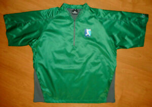 Mens M /& L Mizuno Teamwear Baseball Shirt Short Sleeve Windbreaker Jacket Red