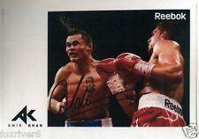 AMIR KHAN Signed Photograph - Light Welterweight BOXING Champion - preprint