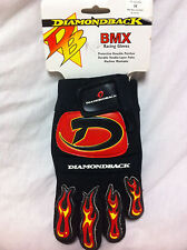 Rare NOS Black / Red DIAMONDBACK RACING GLOVES Mens Size Medium M Old School BMX