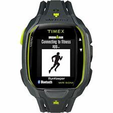 Timex Men's TW5K84500 Ironman Run x50+ Charcoal/Lime Resin Strap Watch