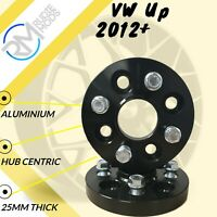 BLACK VW Up 2012 on 4x100 25mm Hubcentric Wheel spacers 1 pair inc bolts