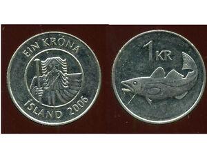 ISLANDE  1 krona  2006  ANM