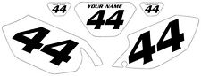 2003-2004 Yamaha WR250F Pre-Printed White Backgrounds with Black Numbers