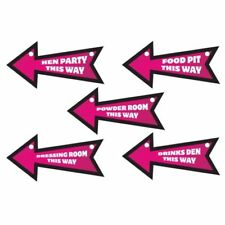 Girls Night Out Hen Party Nite 6 Novelty Pink Direction Signs Decoration 997349