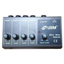 LEEM WAM-290 4 Channel Amplifier Micro Mixer 6.5mm