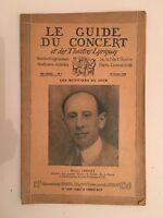 Le Guide du concert et des Théâtre Lyriques Albert Jarosy n°1 1925