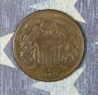1868 2 CENT PIECE NICE COLLECTOR COIN, FREE SHIPPING