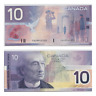 2001 $10 Bank of Canada Replacement Note Knight Thiessen FDU Prefix - EF+