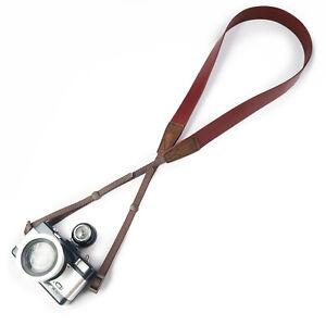 AU LeaTure 120cm Genuine Leather Camera Neck Strap Universal for Sony, Nikon