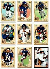 WALTER PAYTON 1992 UPPER DECK FOOTBALL HEROES COMPLETE SET, 10 CARDS W/ CASE