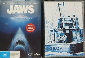 Jaws DVD - Anniversary Edition (PAL, 2 Disc Set) Free Post