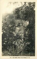 Rumney New Hampshire~Polar Caves~The Soldier~1920 Real Photo Postcard~RPPC