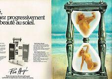 PUBLICITE ADVERTISING 044   1975   PIER AUGE   cosmétiques solaires ( 2 pages)