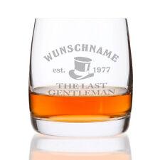 Whiskeyglas - Last Gentleman - mit Gravur des Namens + Geburtsjahr