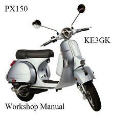 Vespa PX150 Workshop Manual * CDROM * PDF