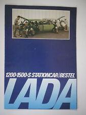 LADA 1200 & 1500 ESTATE STATIONCAR BESTEL orig 1981 Dutch Mkt Brochure Folder  S