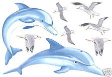 Dolphins And Sea Gulls Wall Transfer Art Decals Wall Decor Tatouage