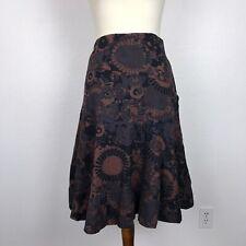 Anthropologie Odille Sz 2 Skirt Cotton Print Full Lined