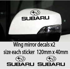SUBARU  WING MIRROR DECALS STICKERS VINYL BLACK X2 Adhesive Graphic decals