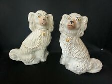 VINTAGE PAIR OF REALLY NICE LARGE STAFFORDSHIRE DOGS