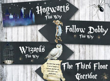 4 Harry Potter Hogwarts Wizards Chalkboard Party Decoration Arrow Signs