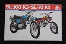 GENUINE 1973 HONDA 70 100 SL100 K3 SL70K1 MOTORCYCLE SALES BROCHURE POSTER MINTY