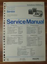 Plattenspieler 22GF827 Gramophon Philips Service Manual Serviceanleitung