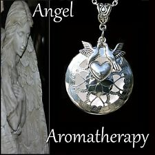 Essential Oil Diffuser Dove Heart Necklace Locket Aromatherapy US Seller