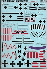 PRINT SCALE DECALS Pfalz D.III Aces of WWI 1/72 *FREE POSTAGE WITH KIT*