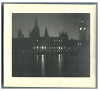 Great Britain, London, Night time in London  vintage silver print Tirage argen