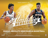 2020-21 PANINI ABSOLUTE MEMORABILLIA BASKETBALL FACTORY SEALED HOBBY BOX