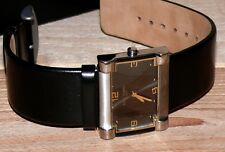 ENZO Tempo Elegant Damen Armband Uhr Titan Gold Leder band Edelstahl 1763680 Man