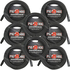8 Pig Hog 25' Foot Ft Microphone Cable XLR Lifetime 8mm Tour Grade PHM25 PigHog