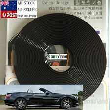 Black 8M Car Wheel Rim Protector Tire Guard Rubber Moulding Adhesion Promoter