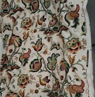 "Waverly Manderston Crewel 8yds + 30"" Upholstery fabric Unused yardage"