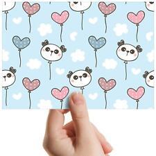 "Panda Balloons Love Heart - Small Photograph 6"" x 4"" Art Print Photo Gift #16816"