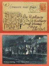 Dr Who 1906 Newfoundland Canada Postcard St John'S To Usa C219356