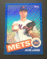 Jacob deGrom 2020 Topps Series 1 Silver Pack Retro Refractor BLUE /150  NY Mets