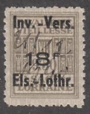 Alsace-Lorraine German Occ Social Insurance Revenue Yvert #ALS172 used cv $64